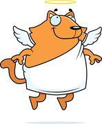 Stock Illustration of Angel Cat