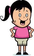 Stock Illustration of Girl Smiling