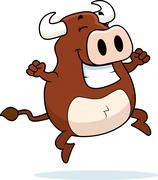 Bull Jumping Stock Illustration