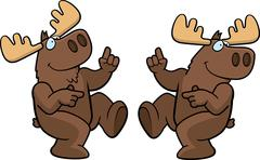 Moose Dancing - stock illustration