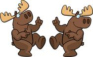 Stock Illustration of Moose Dancing