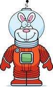 Rabbit Astronaut Stock Illustration