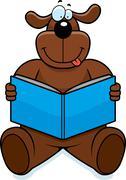 Stock Illustration of Dog Reading