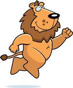 Lion Jumping - stock illustration