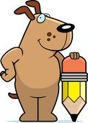 Dog Pencil - stock illustration
