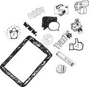 Stock Illustration of Digital tablet illustrations