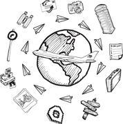 Global matkailun logopiirroksia Piirros