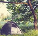 Stock Photo of tent on grassland