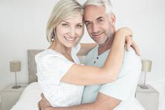 Stock Photo of Portrait of a loving mature couple