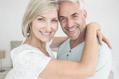 Stock Photo of Closeup of a loving mature couple