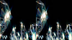 Diamonds. Real 3D Stereoscopic. Stock Footage
