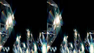 Stock Video Footage of Diamonds. Real 3D Stereoscopic.