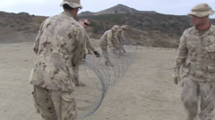 US - Army - Pioneer Training 02 - Barbed Wire Stock Footage