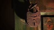 Stock Video Footage of Old padlock