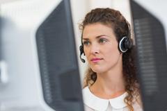 Female customer service agent - stock photo