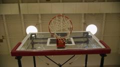 Basketball Hoop from Below, Zoom In Stock Footage