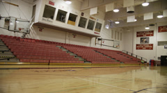 Empty Bleachers, Southern Oregon University Gym Stock Footage