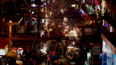 night market in Sanlitun, Beijing, - stock footage