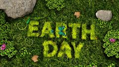 Earth Day Grass Stock Footage