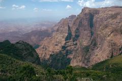 the ethiopian uplands, national park - stock photo