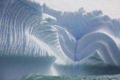 Iceberg along the antarctic peninsula. Stock Photos