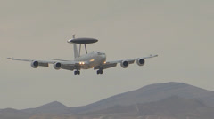 A Royal Air Force E-3 Sentry from RAF Waddington Stock Footage