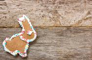 Stock Photo of homemade gingerbread bunny