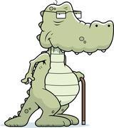 Old Alligator - stock illustration