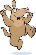 Aardvark Jumping - stock illustration