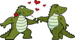 Alligator Romance - stock illustration