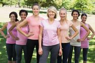 Stock Photo of Women participating in breast cancer awareness