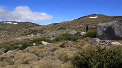 Hiking Australian Landscape - Kosciuszko National Park Stock Footage