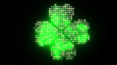 Leds Clover Stock Footage