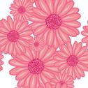 Stock Illustration of elegant seamless pattern with decorative pink flowers, design element