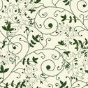 Stock Illustration of elegant seamless pattern with decorative floral branches, design element