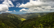 4k canyon view timelapse of Black River Gorge, Mauritius Stock Footage