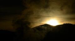 Factory Smoke Sunrise smog Stock Footage