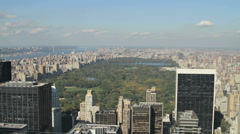 Day to night time lapse of a sunset over Central Park in Manhattan, New York - stock footage