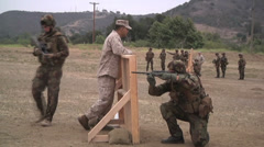 US - Army - Shooting Training 14 - Steyr assault rifle Stock Footage
