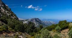 4k canyon view timelapse of the gorroppu canyon, Sardinia Stock Footage