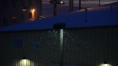 Snow Showers Traffic Light Stock Footage