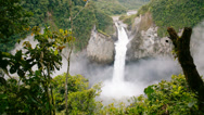 Stock Video Footage of San Rafael Falls, Ecuador. Time-lapse