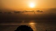 4k sunrise over the ocean, Sardinia Stock Footage