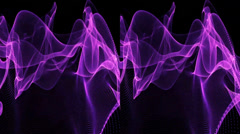 VJ. violet abstractions. Real 3D stereoscopic. Stock Footage