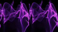 Stock Video Footage of VJ. violet abstractions. Real 3D stereoscopic.