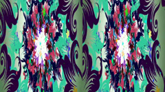 VJ. varicoloured flowers of abstraction. Real 3D stereoscopic. Stock Footage