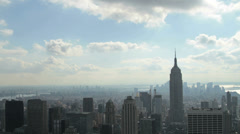 Time lapse of downtown Manhattan and Empire State Building in New York - stock footage