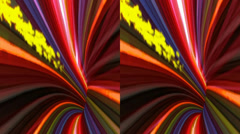 VJ. multicolored tunnel. Real 3D stereoscopic. Stock Footage