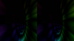 Vj, multicolored tunnel. Real 3D stereoscopic. Stock Footage
