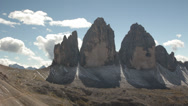 Stock Video Footage of A peak called Tre Cime